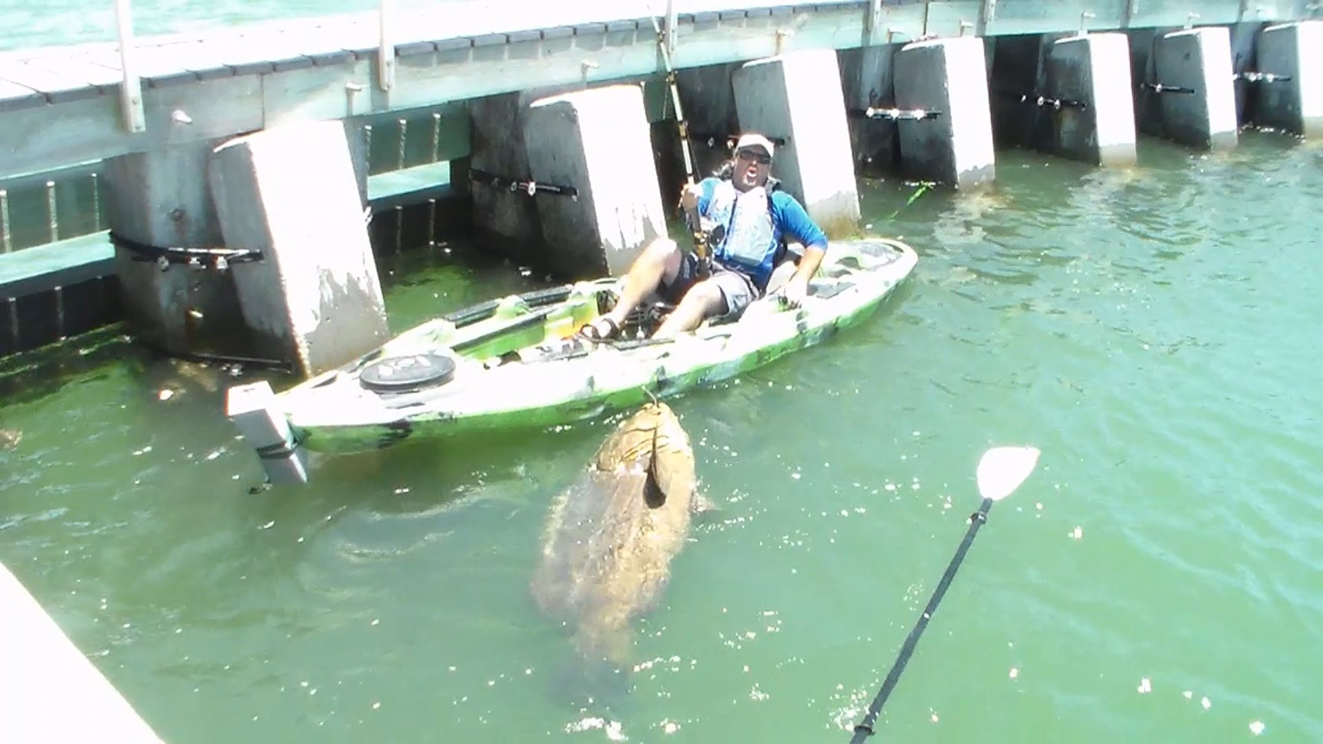 Cape coral man lands largest kayak bottom fish ever for Cape coral fishing